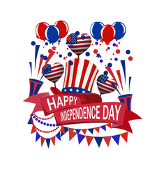 america s independence day a ribbon with an vector image