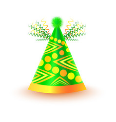 bright festive cap with circles and triangles vector image
