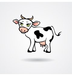 Cartoon cow isolated on a white background vector image