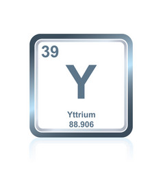 chemical element yttrium from the periodic table vector image vector image