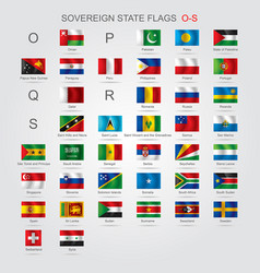 set of sovereign state flags o-s vector image vector image
