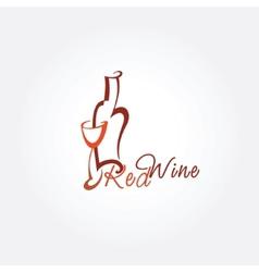 Stylized wine icon vector