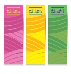 Vertical Banner Set Of Three Modern Graphic Theme vector image