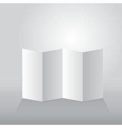 Folded sheet of paper four reversal vector image