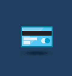icon plastic bank card isolated vector image vector image