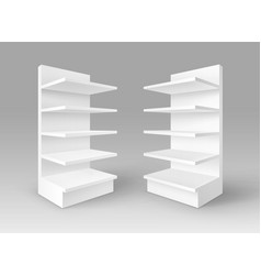 white exhibition trade stands shop racks vector image vector image