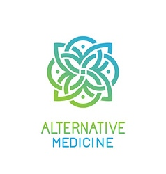 abstract logo design template for alternative vector image
