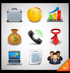 business icons - set 1 vector image