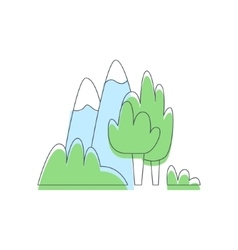 Mountains And Trees Nature Outdoors vector image vector image