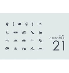 Set of California icons vector image