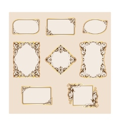 set of template frames and borders vector image vector image