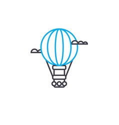air balloon thin line stroke icon air vector image