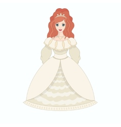 Beautiful princess eps10 vector image