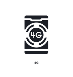 Black 4g isolated icon simple element from mobile vector