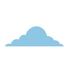 Blue cloud sky weather cumulus view scene vector
