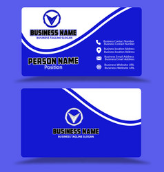 Blue visiting card business card templete eps vector
