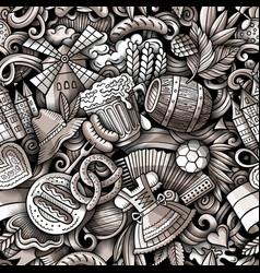 cartoon doodles germany seamless pattern vector image