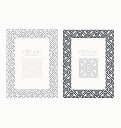 Celtic knot braided frame border ornaments a4 size vector