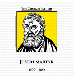 Church fathers justin martyr vector
