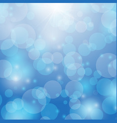 created bokeh and ray light on blue abstract vector image