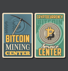 cryptocurrency coins bitcoin mining tool vector image