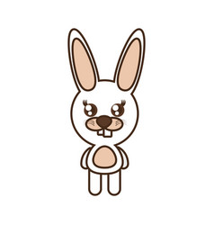 Cute rabbit toy kawaii image vector