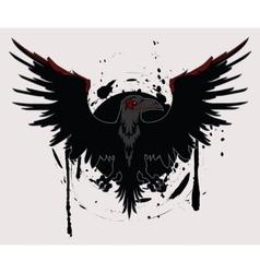 Dark raven vector