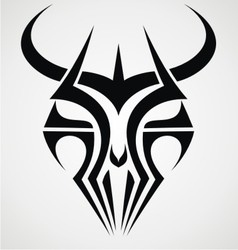 Demon Mask Tribal vector image