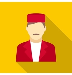 Doorman icon in flat style vector
