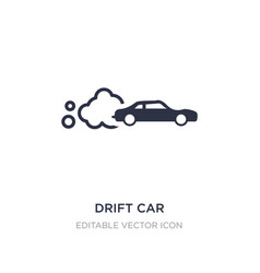 Drift car icon on white background simple element vector