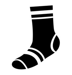 elastic sock icon simple style vector image