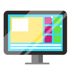 electronic device laptop or personal computer vector image