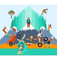 Extreme Sports Concept vector