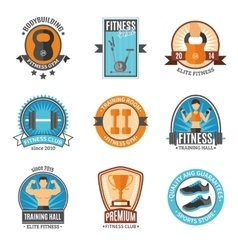 Fitness And Gym Club Badges vector