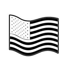 Flag united states of america wave side in vector