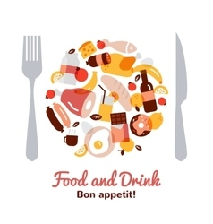 food and drink concept vector image