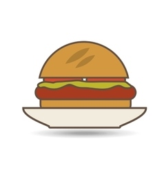 food in plate vector image