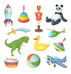 Funny cartoon toys vector