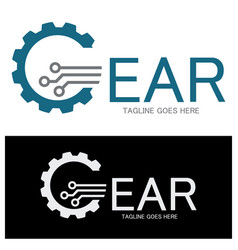 Gear logo vector