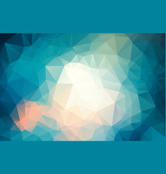 geometrical background with triangles blue light vector image