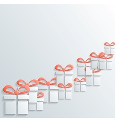 Gift icon with shadow vector image