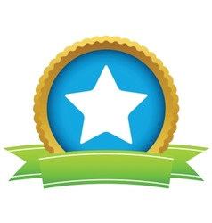 Gold star logo vector image