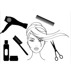 hairdressing salon vector image