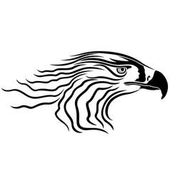 head of menacing eagle vector image