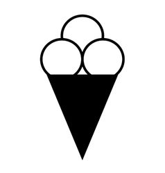Ice cream symbol 1207 vector image