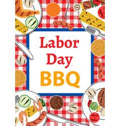 Labor day bbq vector