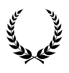 laurel black vector image