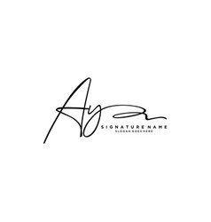 Letter ay signature logo template vector
