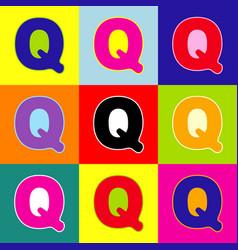 letter q sign design template element pop vector image