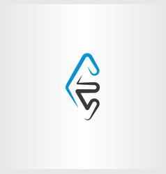 Line logo letter e logotype vector
